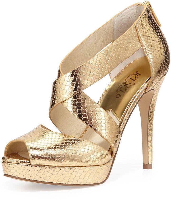 ShopStyle | Heels, Michael kors, Gold heels