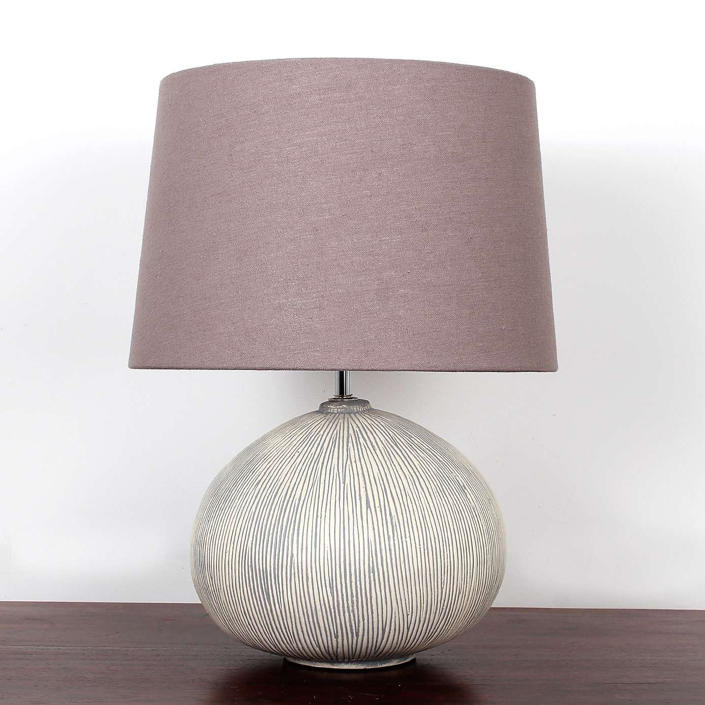 Dahlia Scratched Resin Table Lamp Mauve living room