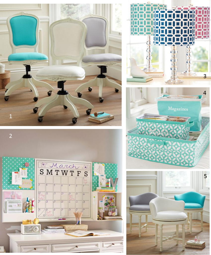 Mg decor update your home office with these 5 preppy chic for Preppy home decor