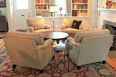 living room layout - four chairs instead of couches!