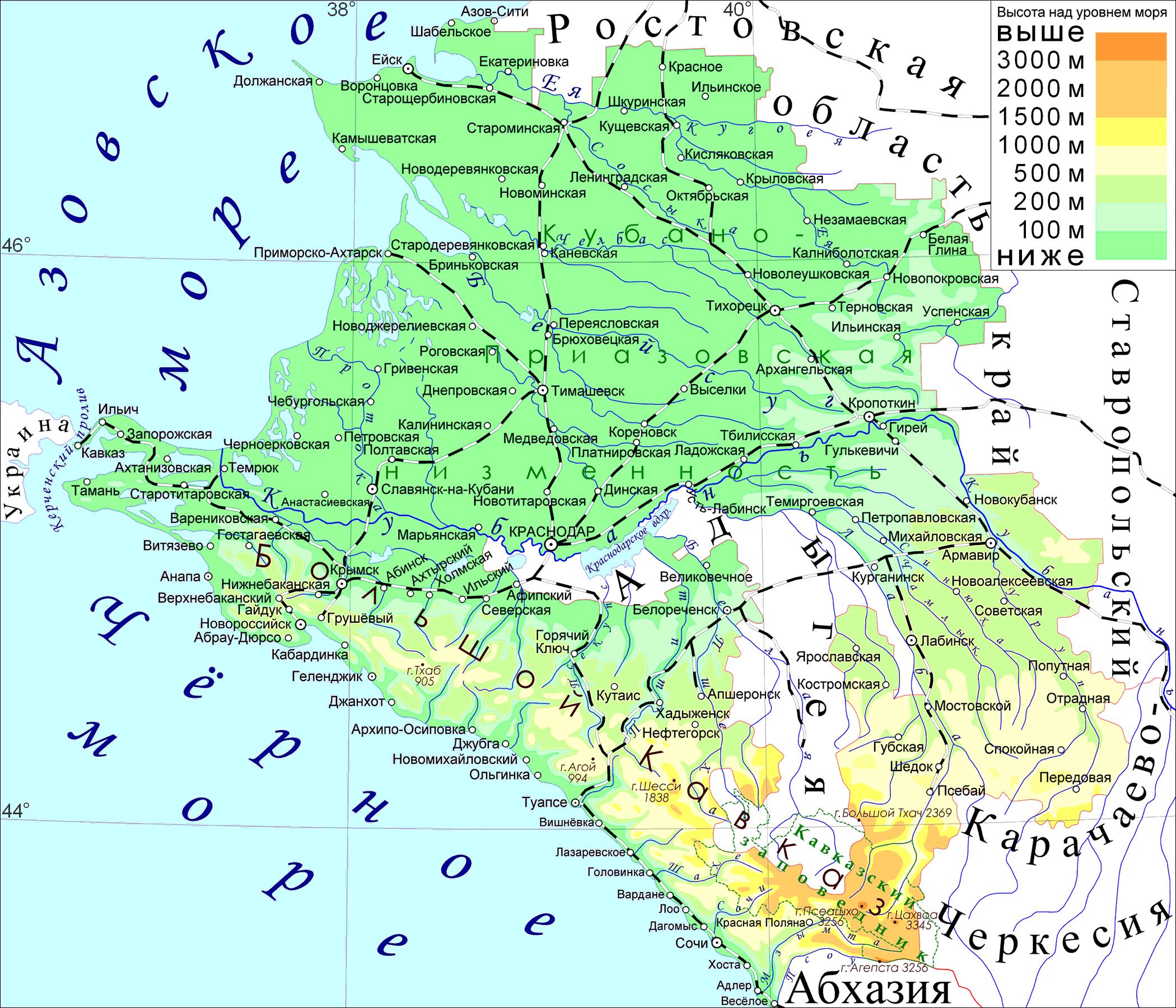 A map of the Krasnodar Krai Russia MAPS Pinterest