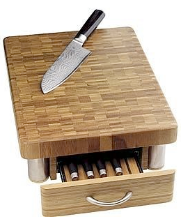 Chopping Board With Drawer To Knives