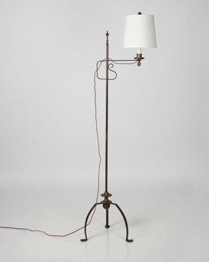 1920s wrought iron floor lamp.   Lamps   Pinterest   Wrought iron ...