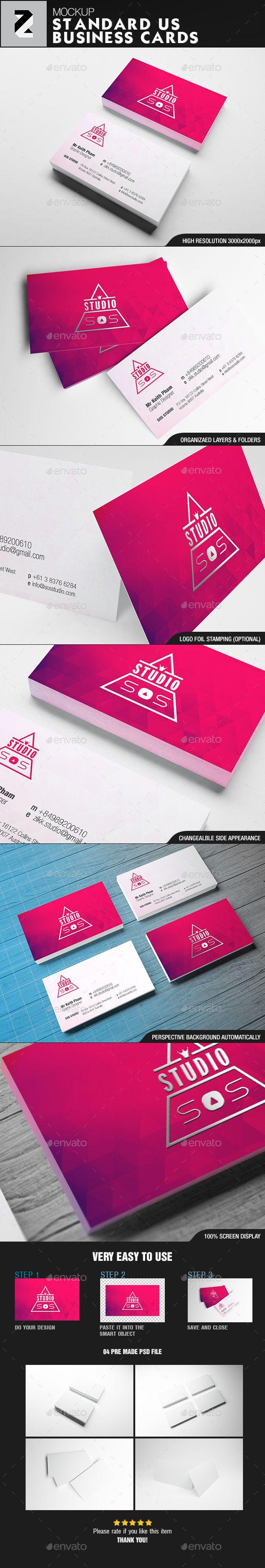 Standard us business card mockup mockup business cards and font logo standard us business card mockup reheart Choice Image