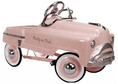Pretty in pink classic pedal car