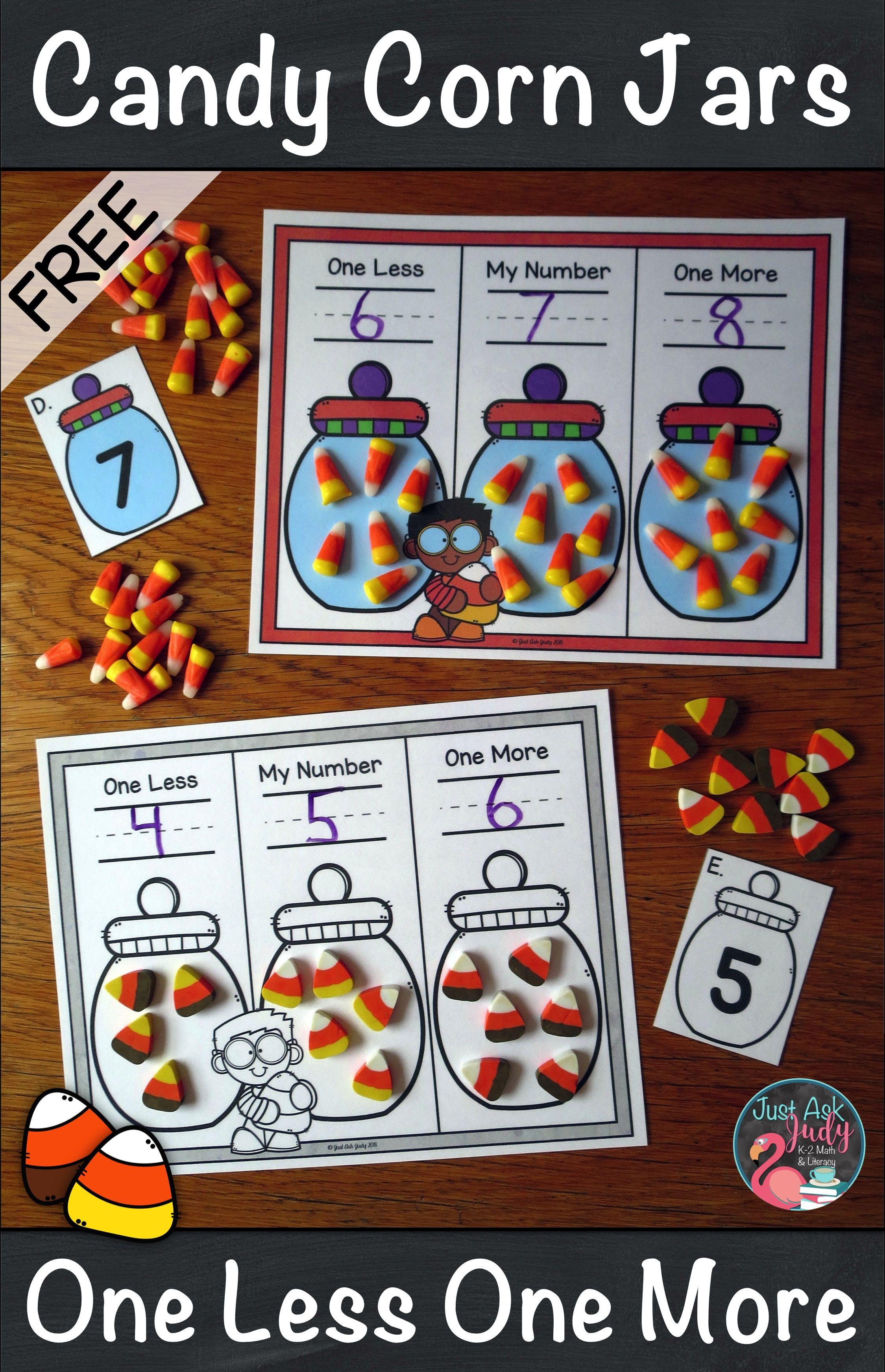 Candy Corn Jars Halloween Math Centers Math Centers Kindergarten Kindergarten Halloween Math Centers [ 3486 x 2249 Pixel ]