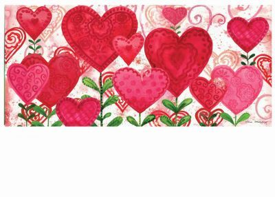 Sassafras Planted Valentine Switch Mat 10 X 22 Insert Valentines Valentine Valentine Holiday
