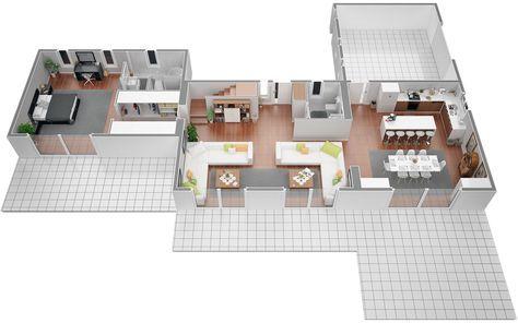 Azur Logement Provencal, Vous Présente Une Villa Contemporane Modèle   Plan  Maison Plain Pied 200m2
