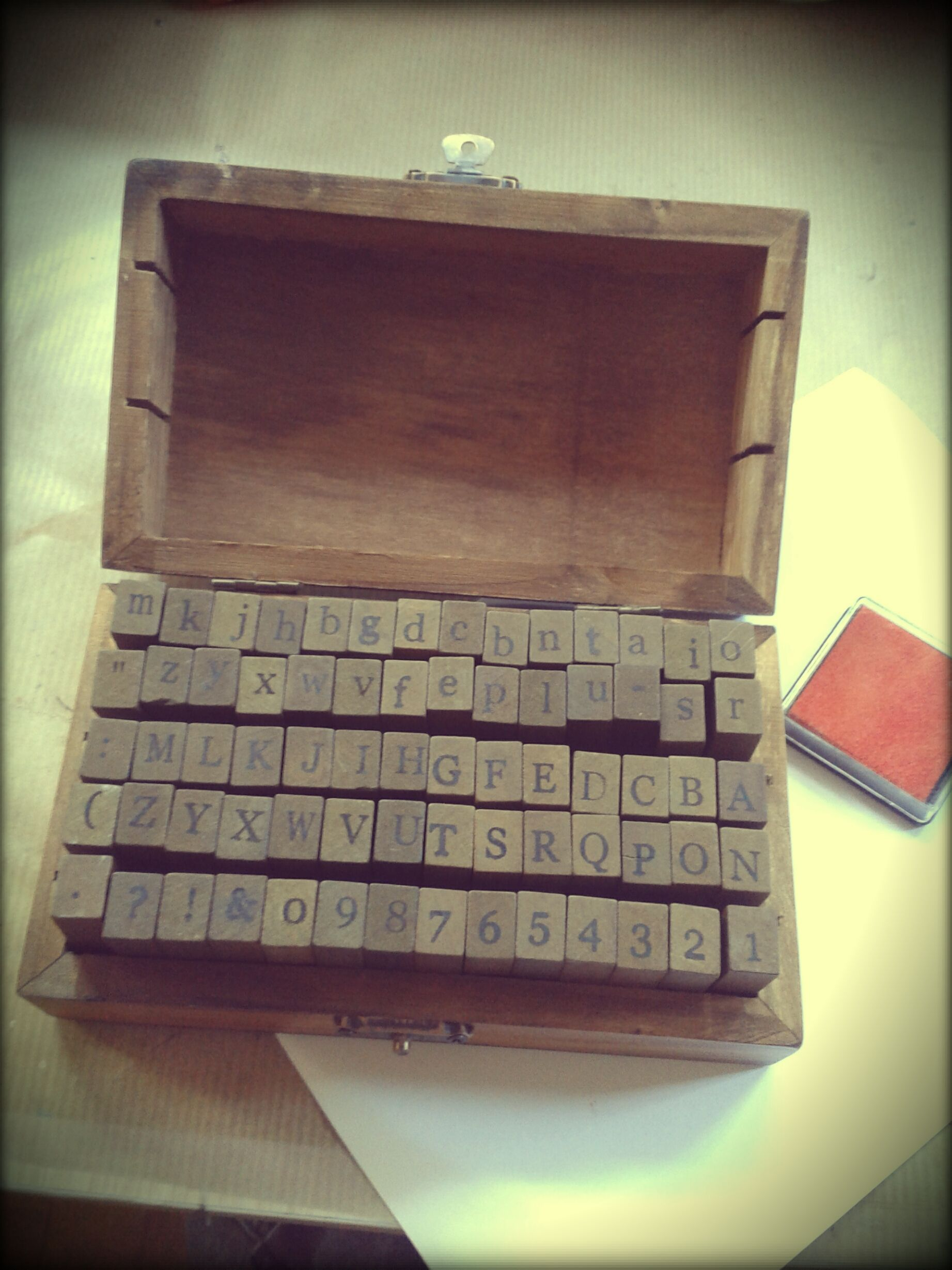 Rubber stamps box