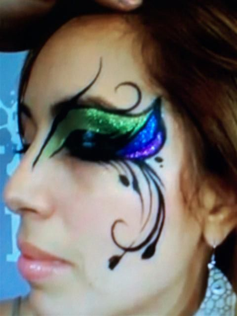 Glitter Eye Design Love The Brilliant Blue And Green