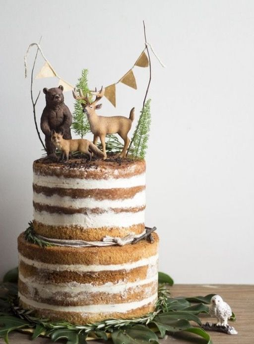 Love This Forest Theme Cake With Images Woodland Cake