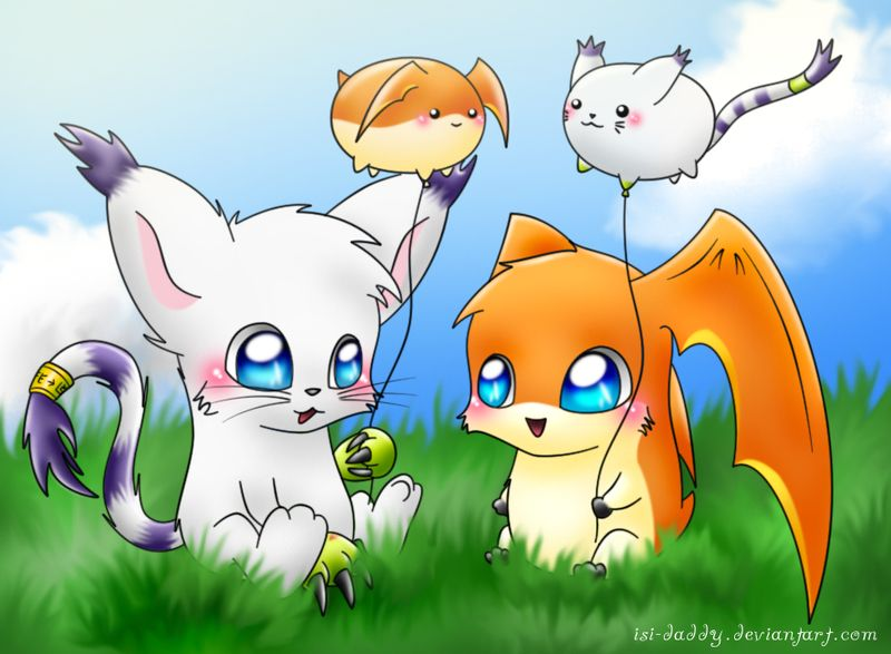 Gatomon And Patamon Gatomon & Patamon ...
