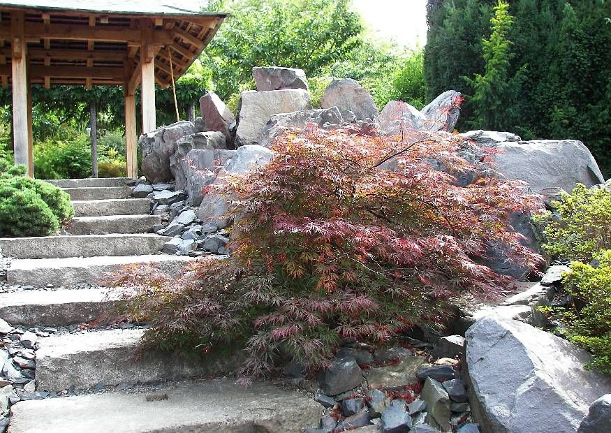 Treppenanalge im Hanggarten Hanggarten Pinterest Gärten - ideen gestaltung steingarten