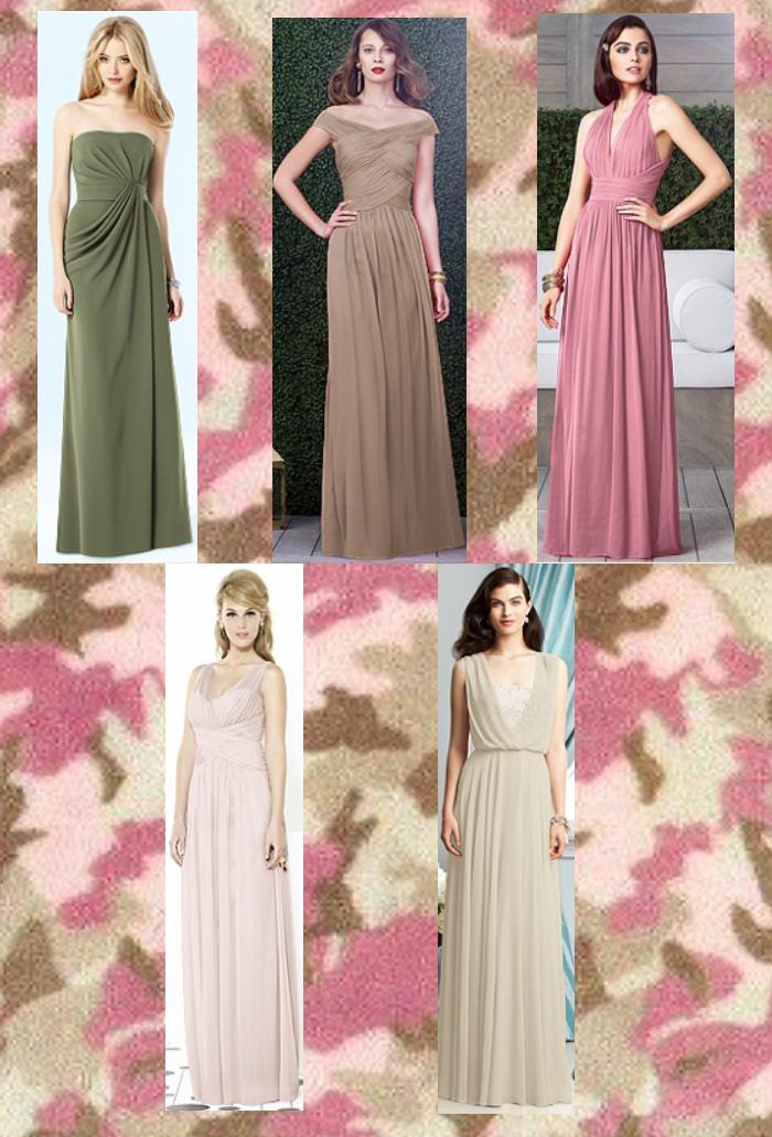 army green bridesmaid dresses | Camo Wedding Ideas | Pinterest ...