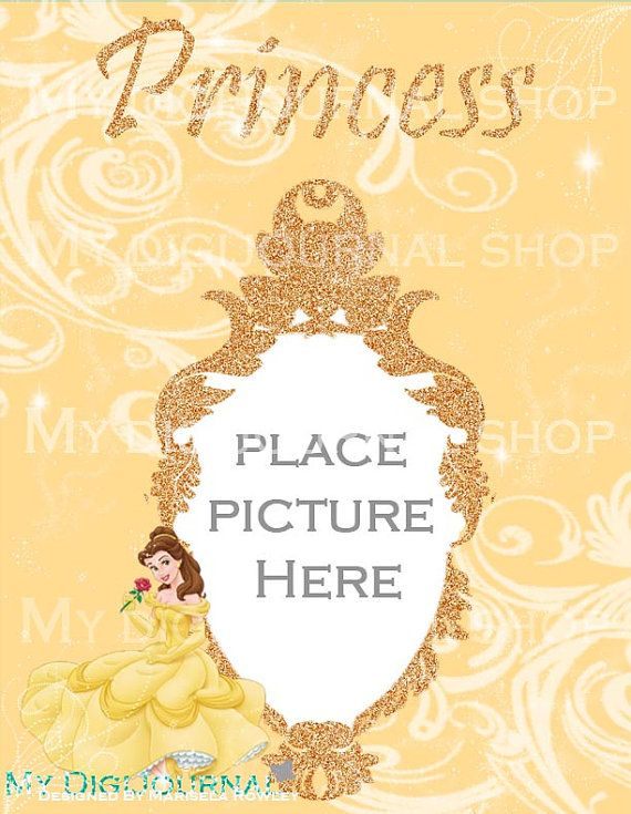 Personalized Princess Belle Frame On High Quality Digital