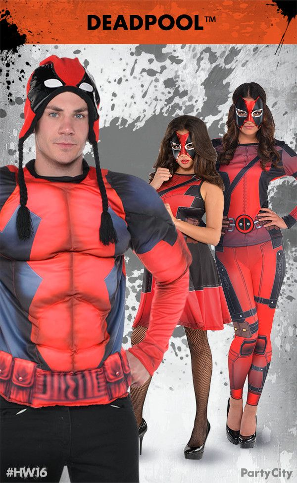 rule halloween and dress to thrill with deadpool costumes from party city