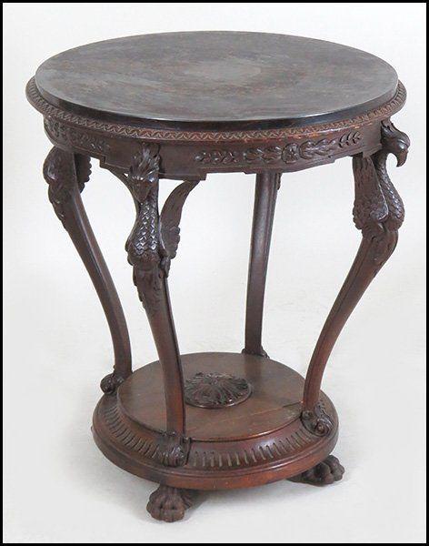Carved Mahogany Phoenix Form Center Table : Lot 135-1040 #mahogany #phoenix  #. Center TableAntique FurniturePhoenix - Carved Mahogany Phoenix Form Center Table : Lot 135-1040 #mahogany