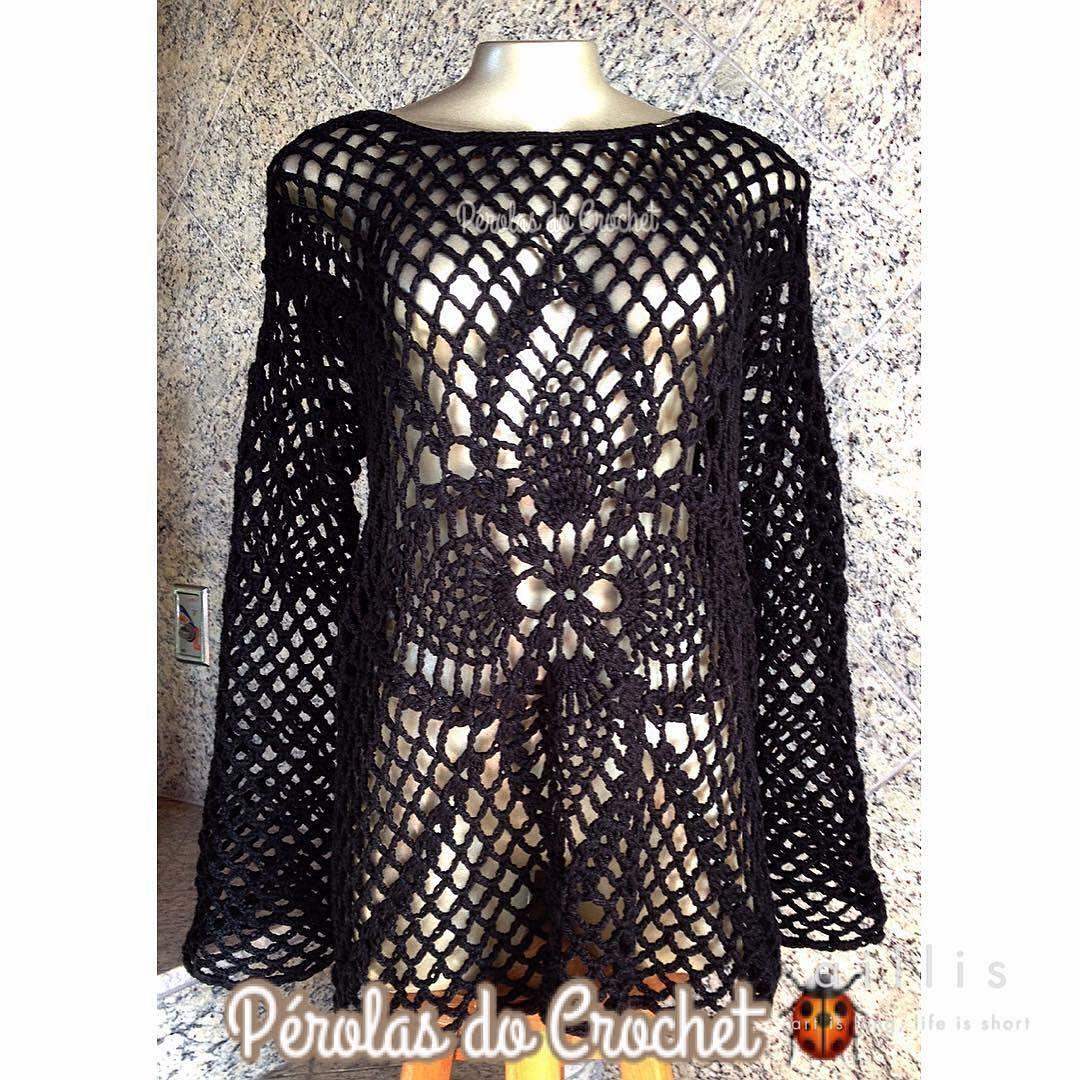 Blusa @perolasdocrochet_renata   #blusadecroche #croche #crochet #crochetlover #crochetblouse #semprecirculo #perolasdocrochet #instadaily