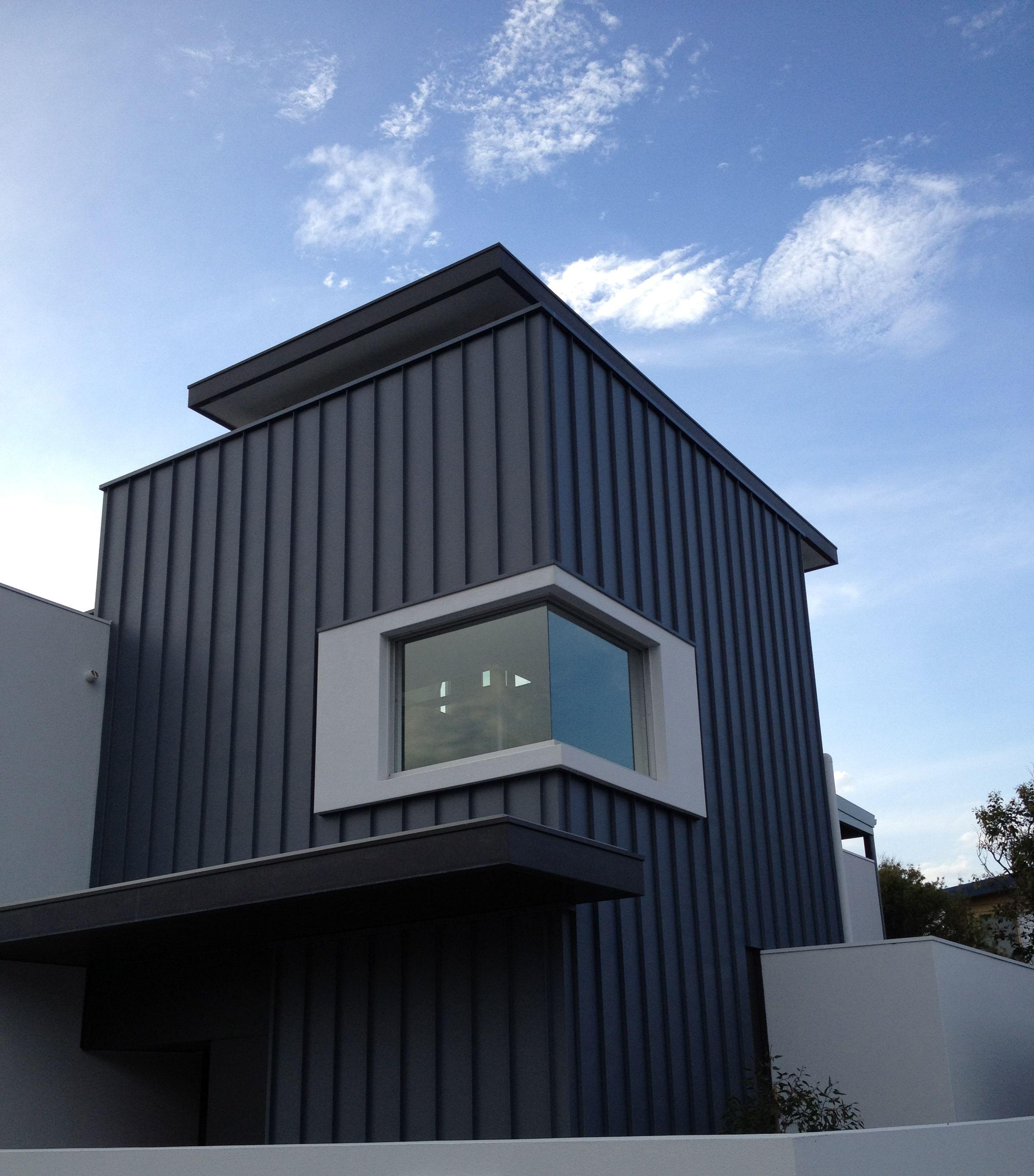 Metal Cladding Systems On The Bonbeach Build Metal Cladding House Cladding Facade House