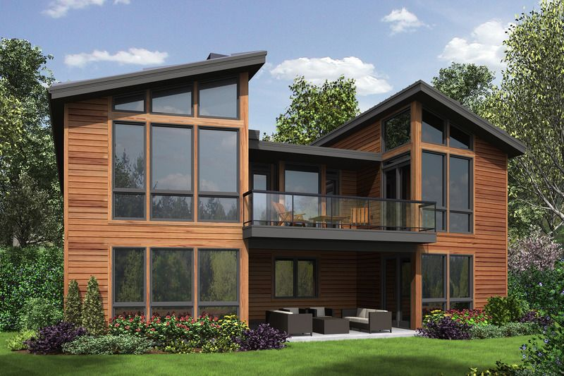 Modern Style House Plan 4 Beds 4 Baths 3242 Sq Ft Plan 48 606 Shingle House Plans Modern Style House Plans Contemporary House Plans