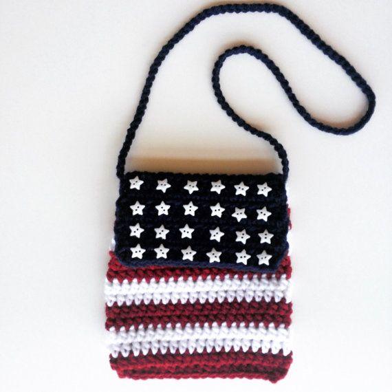 Lujo Americano Patrón De Bandera Crochet Ornamento - Ideas de ...