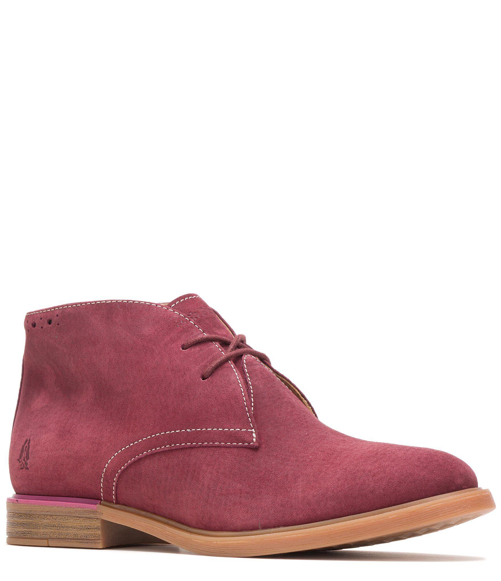 Hush Puppies Bailey Chukka Suede Block Heel Boots Cordovan Suede 7w Block Heel Boots Heeled Boots Boots