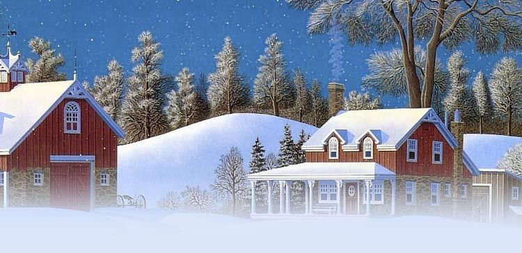 Winter email stationery (stationary): A Beautiful Winter Houses