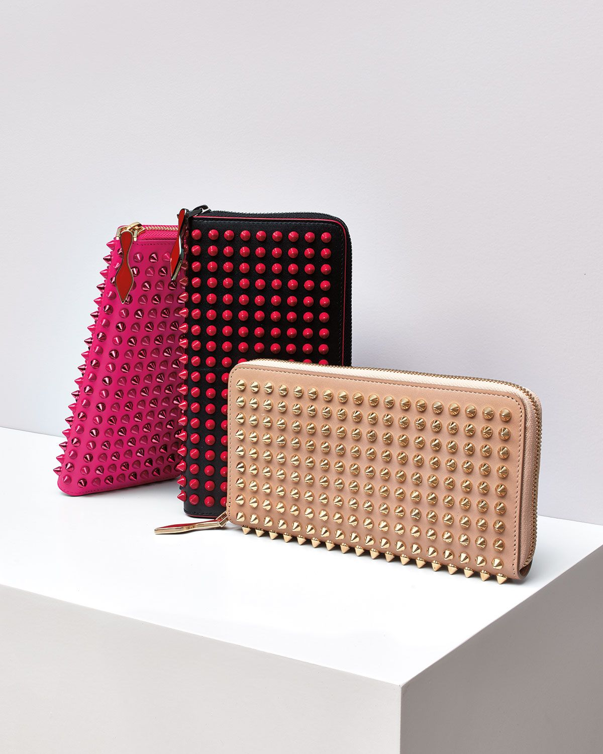 3c95080c168 Christian Louboutin Panettone Spike Stud Continental Wallets | The ...