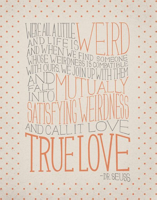 Dr Suess on love