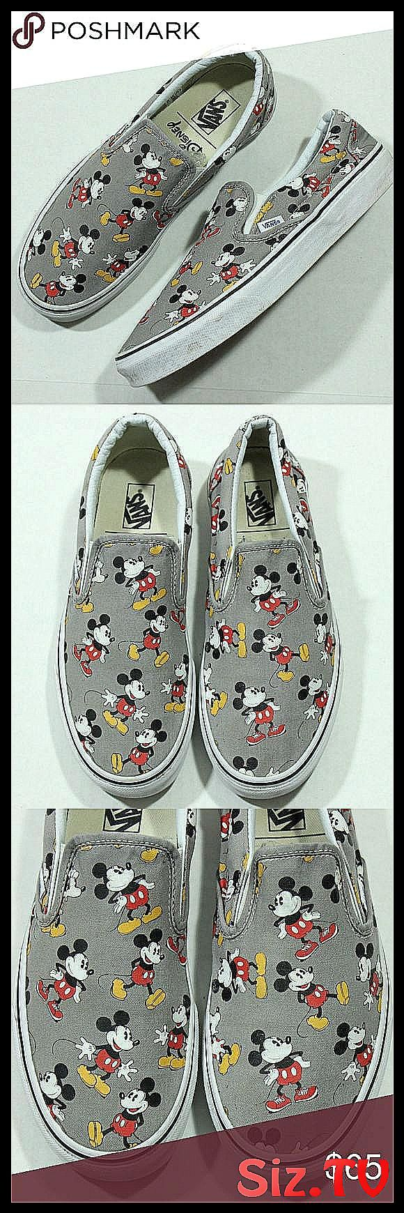Vans Disney Mickey Mouse Slip On Shoes Sneakers Vans Disney Mickey Mouse Slip On   Vans Disney Mickey Mouse Slip On Shoes Sneakers Vans Disney Mickey Mouse Slip On Shoes Sneakers SZ 9 5 Mens   11 Women 39 s USED  NO BOX   USED  MIGHT HAVE toe box creasing dirt on the bottom around the shoes needs cleaning scuffs around the shoes heel drag yellowing on the bottom etc   ALL SALES FINAL Disney Shoes Sneakers Vans Disney Mickey Mouse Slip On S
