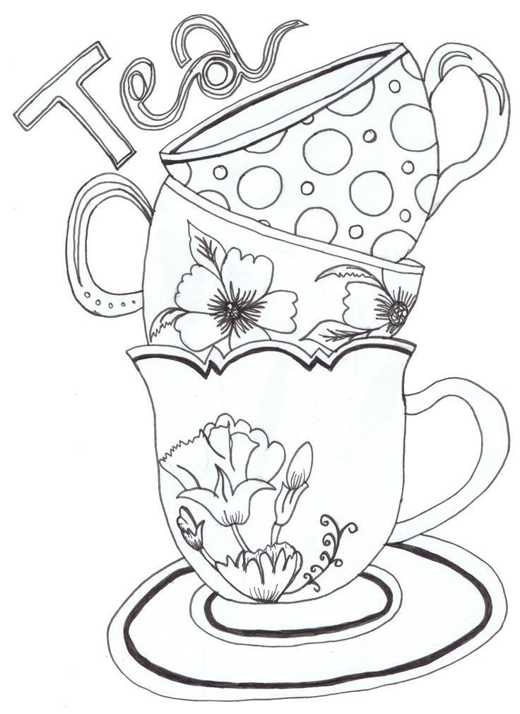 Teapot Print - Coloring Pages for Kids and for Adults | coloring ...