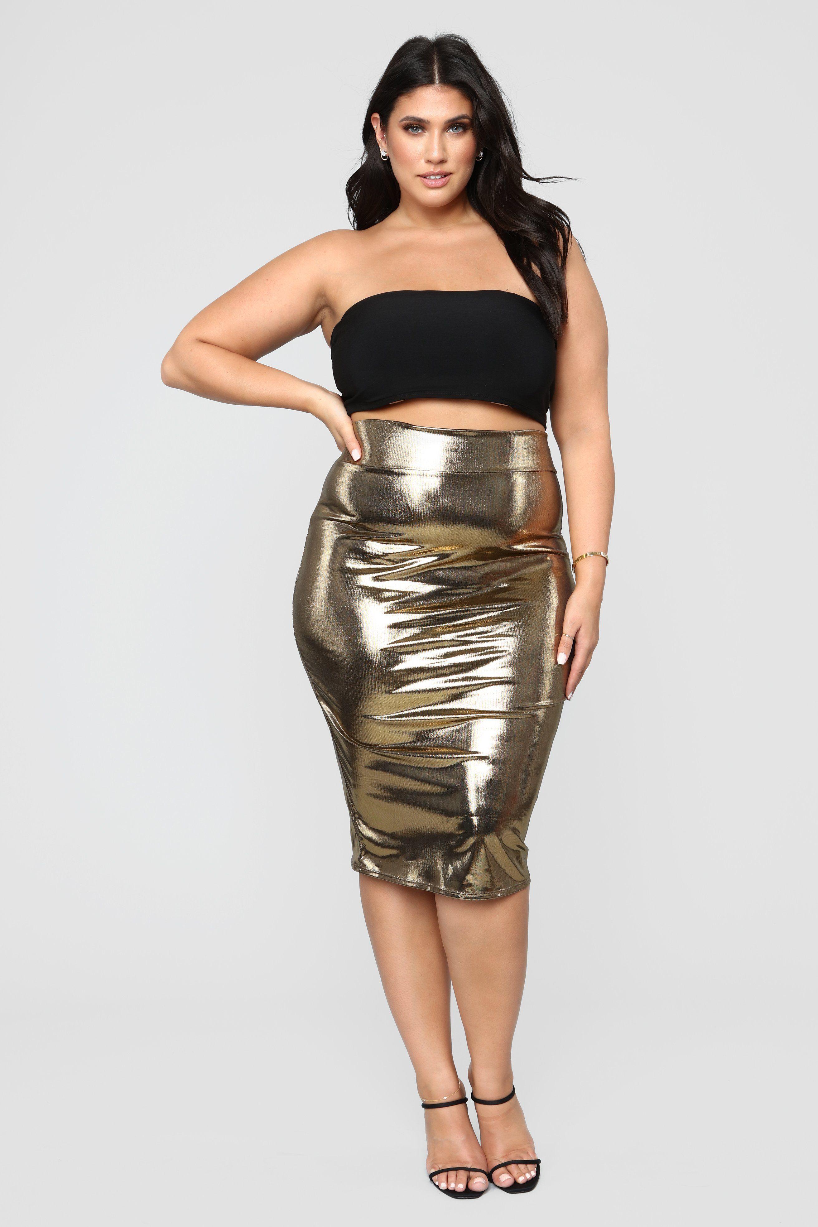 5d77fcfaa2 Plus Size Girls, Heart Of Gold, Midi Skirt, Two Piece Skirt Set,