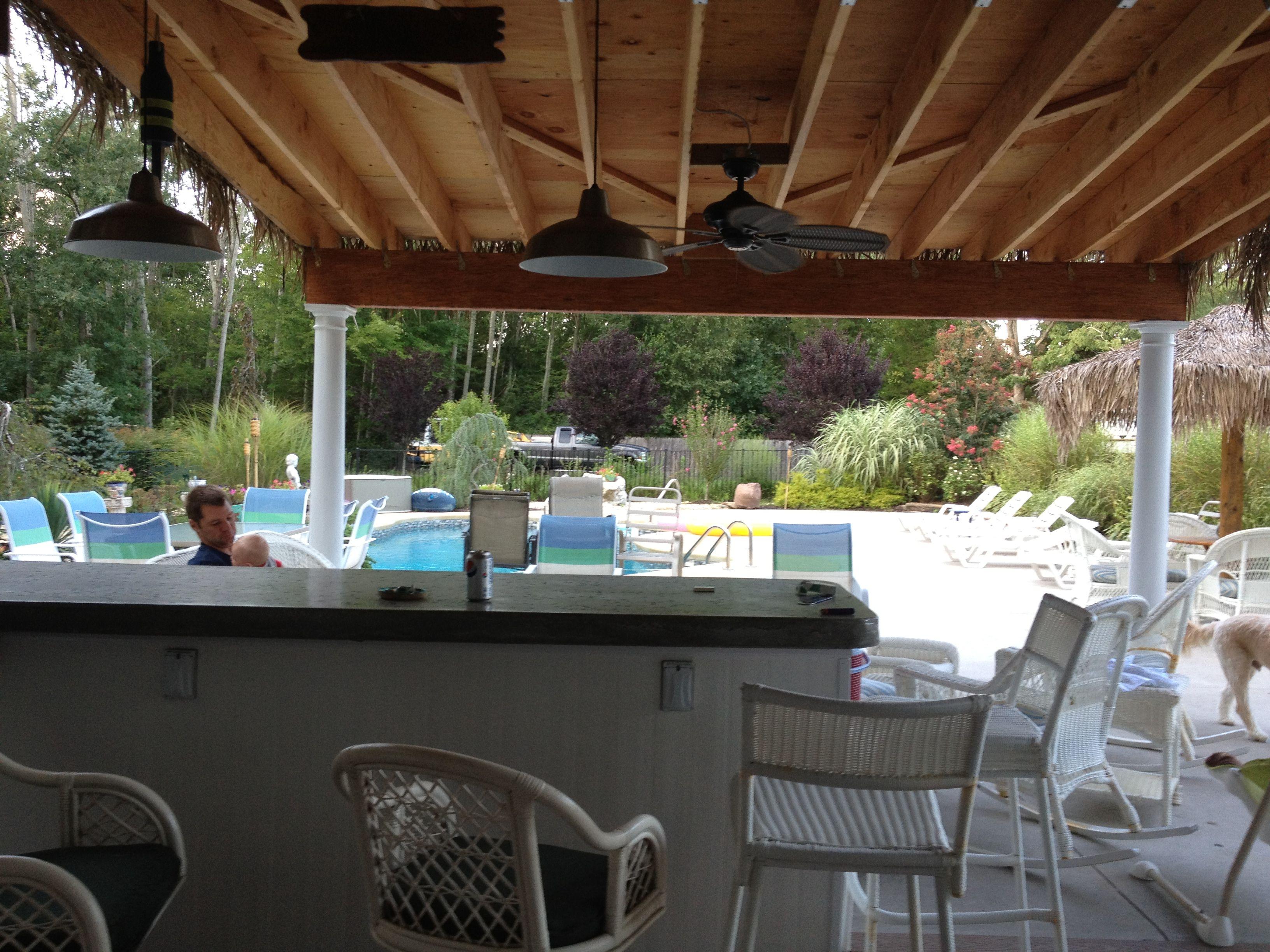 tiki hut overhang roof tiki hut pool house beach house