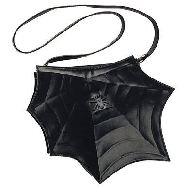 @PleaserShoes Demonia Black Spider Web Purse $37 This Black spider web shaped polyurethane purse that has spiderweb-style stitching on the outside with a sturdy strap.(http://www.dallasnovelty.com/pleaser-shoes-demonia-black-spider-web-purse/)