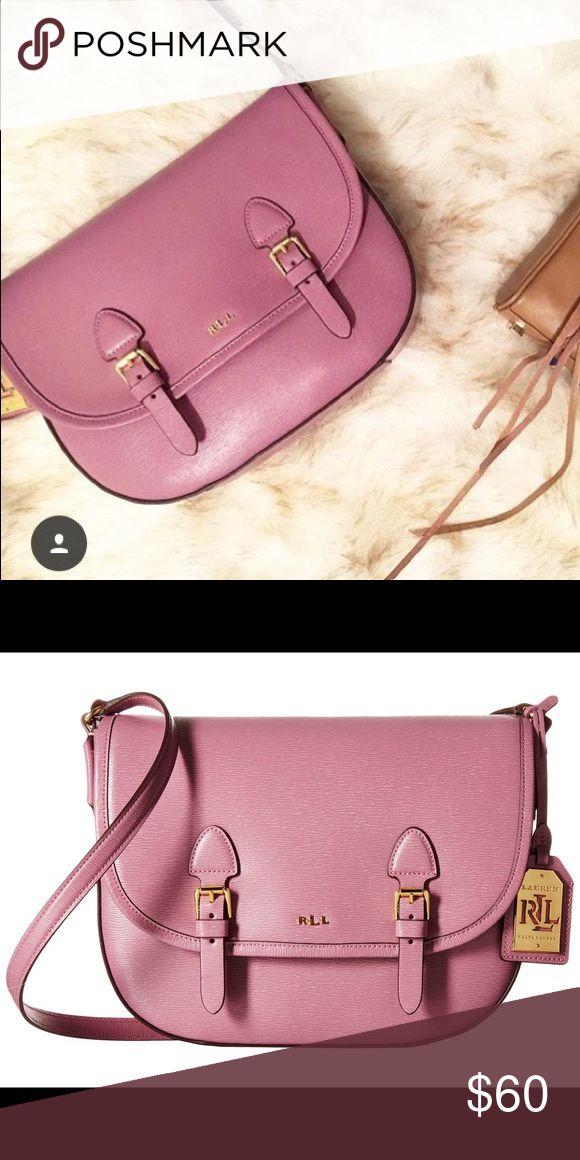 Selling this Ralph Lauren Tate pink cross body purse on Poshmark! My  username is  sarahrose9009.  shopmycloset  poshmark  fashion  shopping   style  forsale ... 3175e09e2e