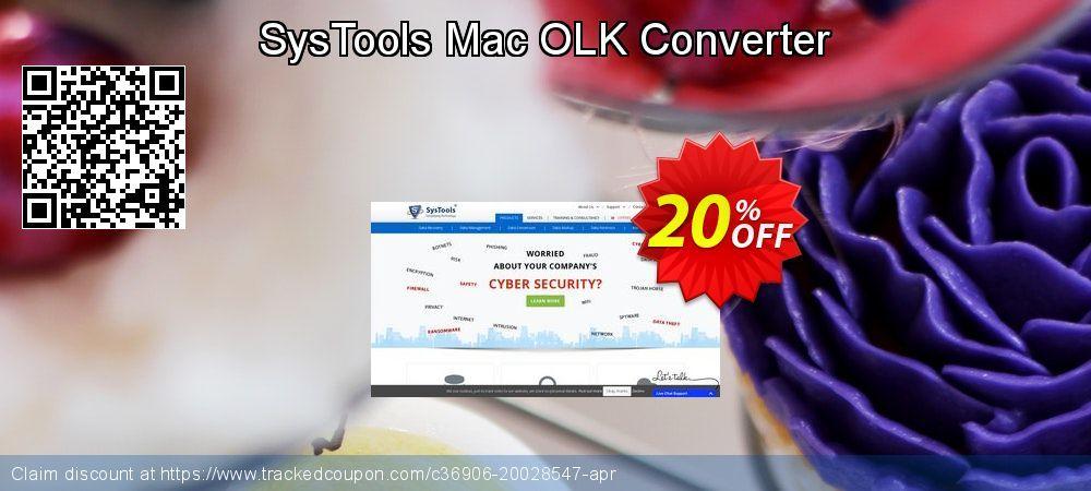 SysTools Mac OLK Converter Coupon 20% discount code, May 2019