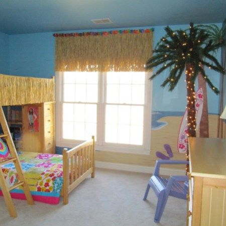 Tropical Beach Bedroom Ideas For Kids Bedroom Design By