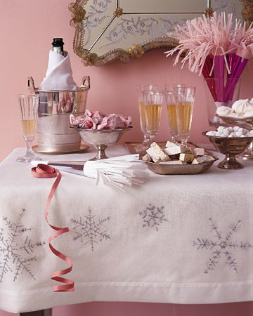Snowflake Tablecloth for new years eve