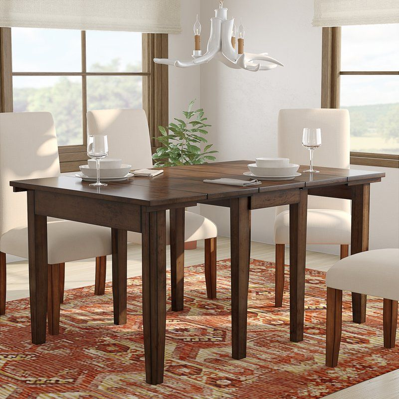 Birchley Extendable Solid Wood Dining Table Dining Table In