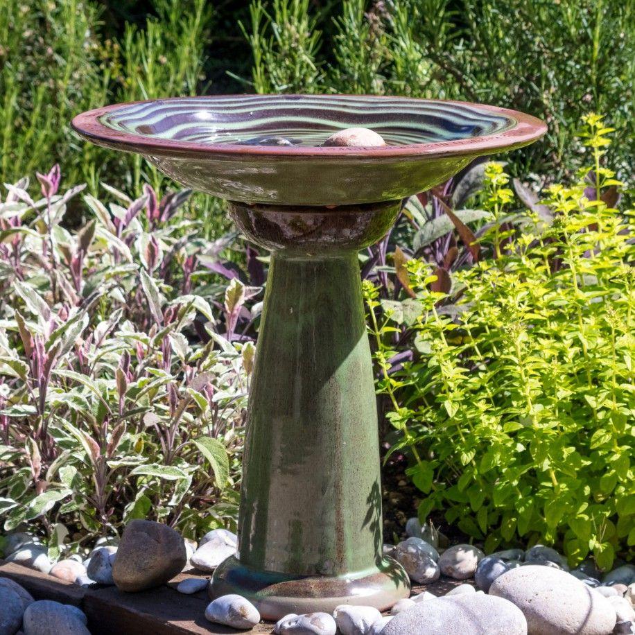 Wildlife World Echo Bird Bath Ceramic Construction Home Garden Decoration