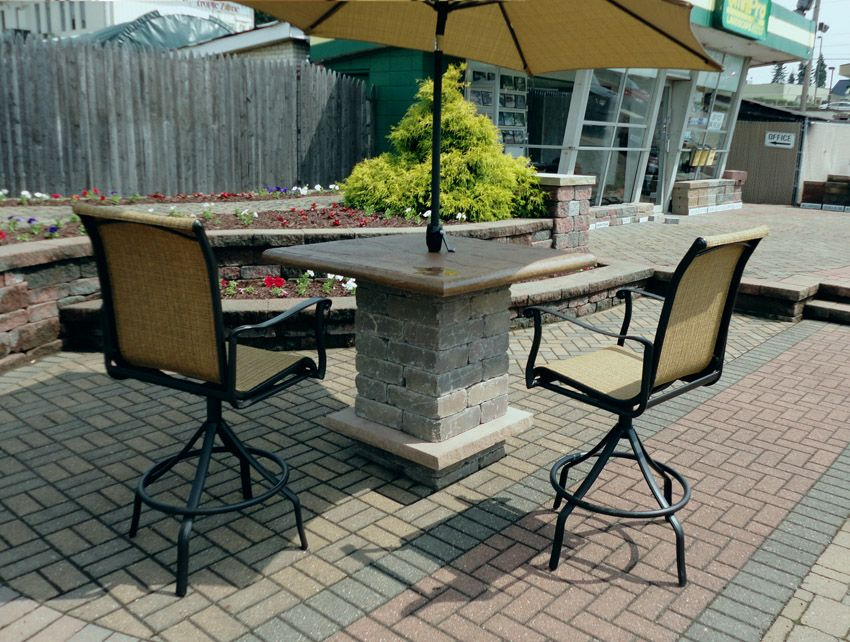 Pub Table Outdoor Concrete Table For Patio Pool Or Restaurant