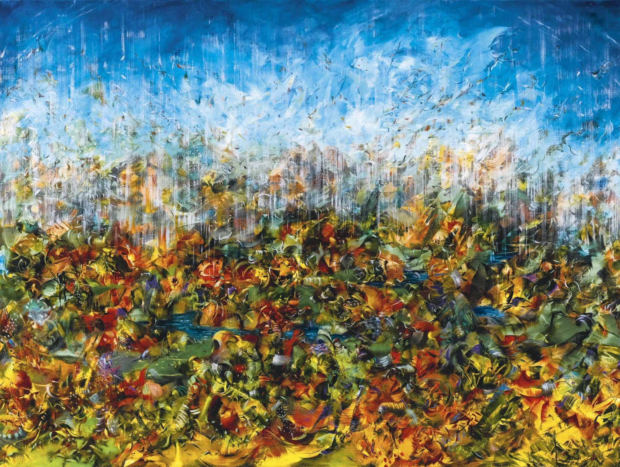 Contemporary Art- Doha 13 Oct 2014 Ali Banisadr- The Chase Estimate 180,000   250,000