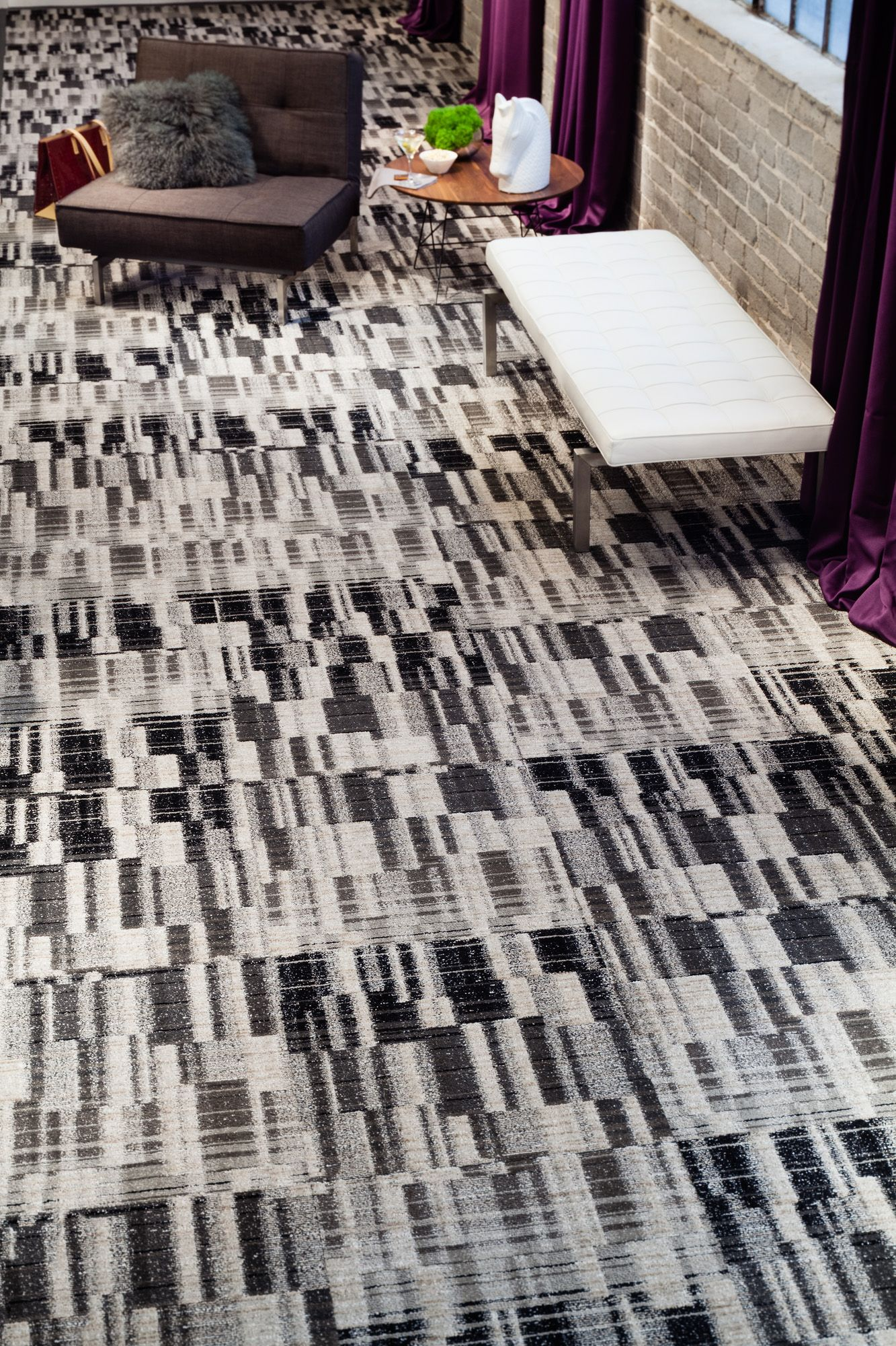 J J Invision S Marquee Pattern We Call This High Drama Http Www Jj Invision Com Products View 4338 Atticus Contemporary Rug Contemporary Design