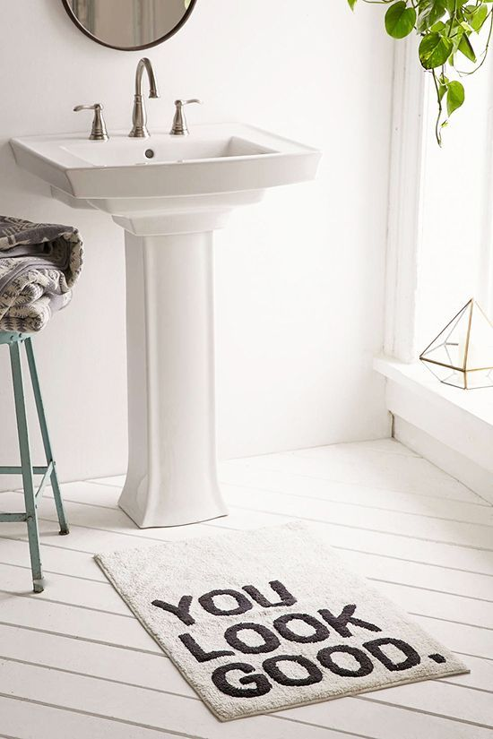 Change Your Bath Mat Designlovefest Home Pinterest Bath - Bathroom mats for bathroom decorating ideas