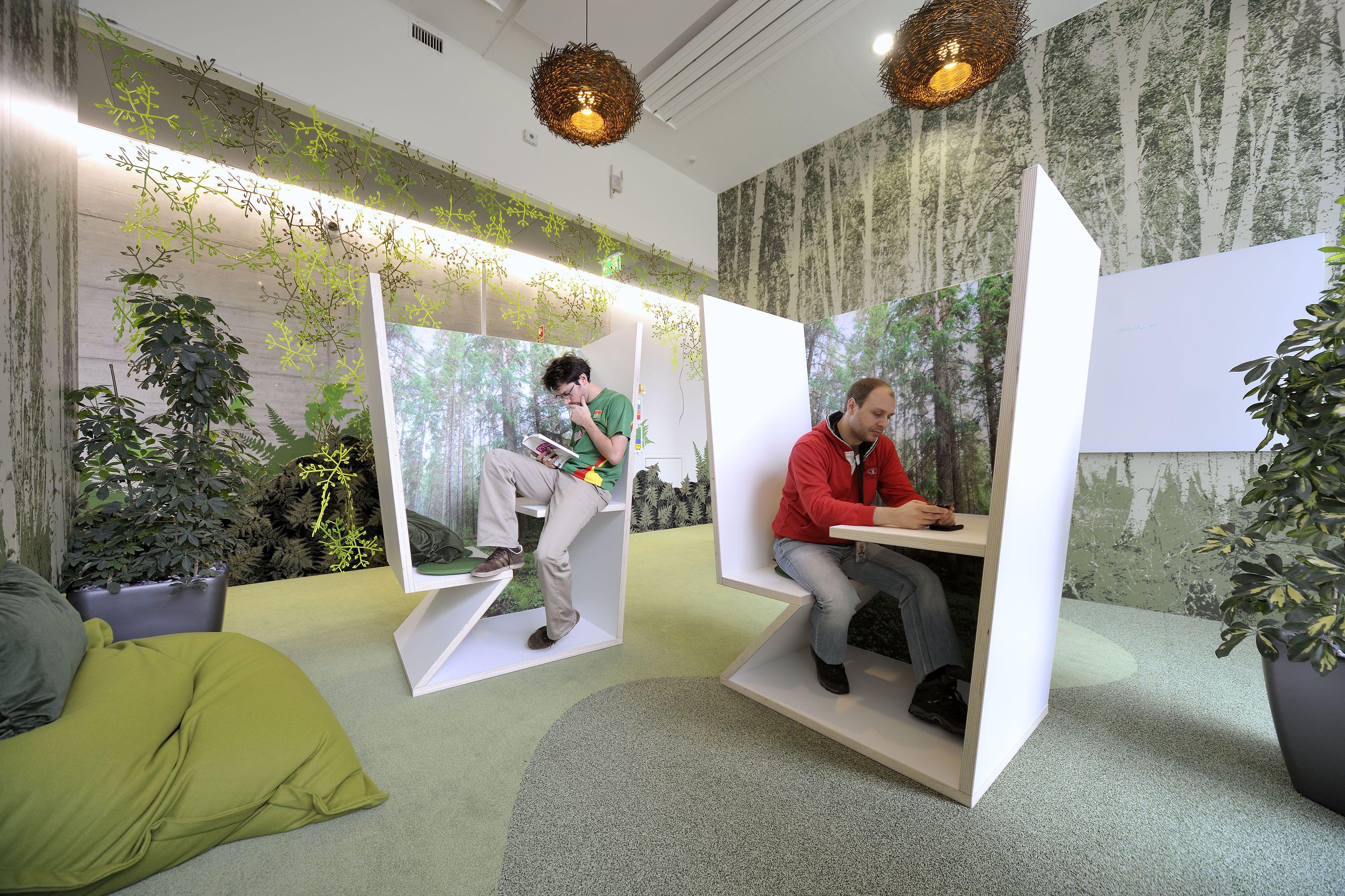Google Zurich - Workspace - Focus #GoogleZurich, #Office, #Plants