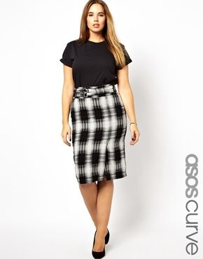 FIND Women's Check Pencil Skirt Outlet Big Sale Wholesale Price Cheap Online Cheap Footaction Explore Cheap Online Free Shipping Clearance Store FjVS2