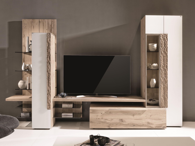 Wohnwand V-Alpin  Wohnwand, Wohnzimmer tv wand ideen, Glasschrank