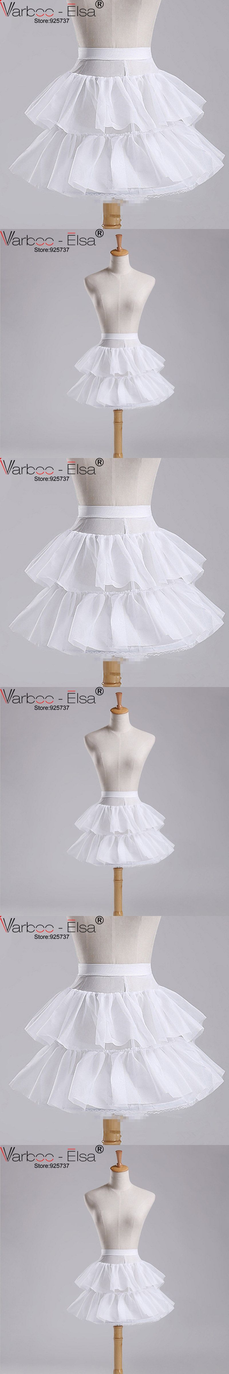 Petticoat for wedding dress  Petticoat Children  Layers Hoopless Short Ruffle Skirt Flower Girl