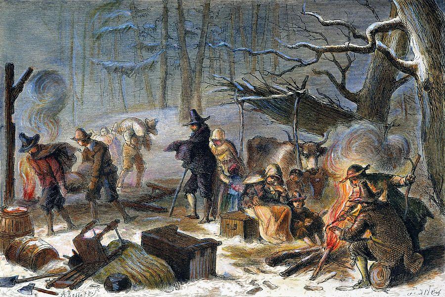 Pilgrims: First Winter, 1620   Art, Fine art america, Pilgrim