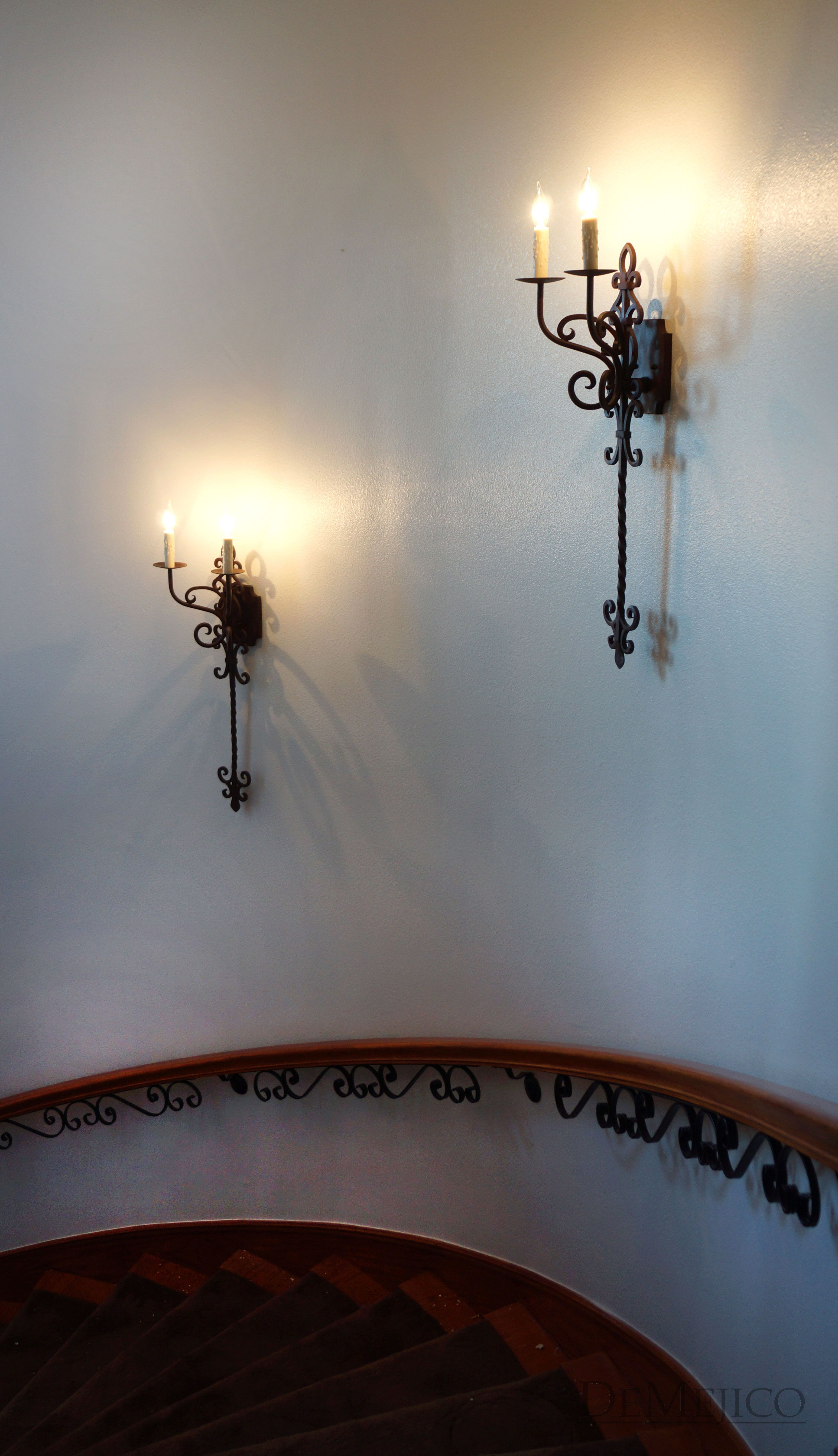 These Custom Made, Hand Wrought Iron Sconces really